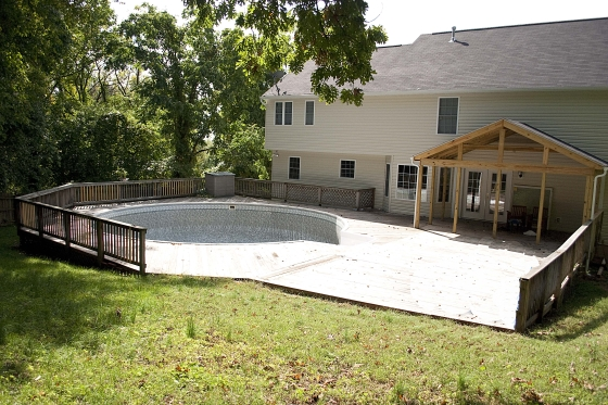 house addition with pool