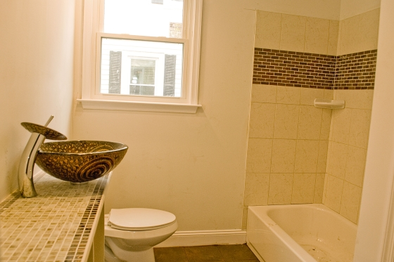 modern bathroom restored